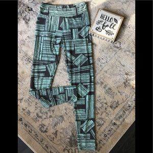 LULAROE grey/green LEGGINGS